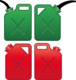 De olie en het gas kunnen stock illustratie