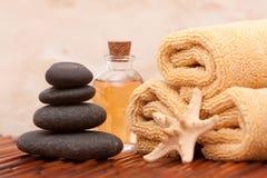 De olie en het kuuroordpunten van Aromatherapy Royalty-vrije Stock Afbeeldingen