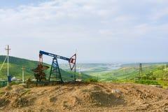 De olie van boortorenpompen Royalty-vrije Stock Foto's