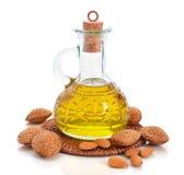 De olie van de amandel Stock Fotografie