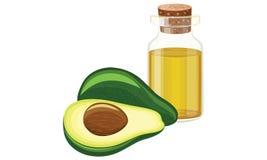 De olie van de avocado Stock Fotografie