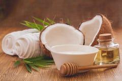 De olie van de kokosnoot Royalty-vrije Stock Foto