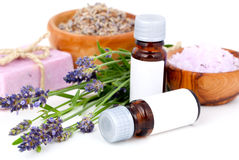De olie van de lavendel Stock Foto