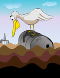 De Olie van de olie overal Stock Fotografie