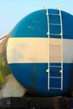 De olie van de treinoverdracht aan andere plaats, Ladingszaken voor overdrachtolie van post aan andere plaats Stock Foto's