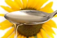 De olie van de zonnebloem Stock Afbeeldingen