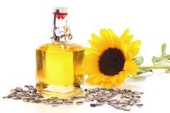 De olie van de zonnebloem Royalty-vrije Stock Foto's
