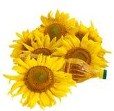 De olie van de zonnebloem en zonnebloem Royalty-vrije Stock Afbeelding