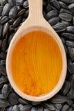 De olie van het zonnebloemzaad Stock Afbeelding
