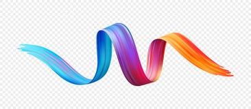 De olie van de kleurenpenseelstreek of het acrylelement van het verfontwerp Vector illustratie vector illustratie