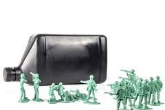 De Olie van legermensen royalty-vrije stock afbeeldingen