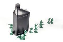 De Olie van legermensen stock afbeelding