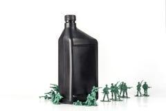 De Olie van legermensen stock foto's