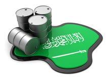 De olie van Saudi-Arabië royalty-vrije illustratie