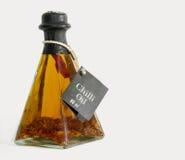 De olie van Spaanse pepers Stock Afbeelding