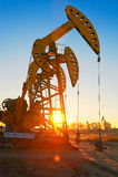 De olie zuigende machine Stock Afbeeldingen