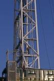 De olieboorder wordt klaar voor klim Royalty-vrije Stock Afbeelding