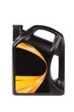 De oliefles van de motor stock afbeeldingen