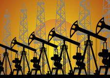 De olieindustrie. stock illustratie