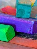 De oliekleurpotloden van de pastelkleur Stock Afbeeldingen