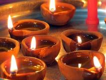 De Olielampen van het Diwalifestival royalty-vrije stock afbeelding