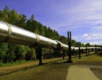 De oliepijpleiding van Alaska Stock Afbeelding
