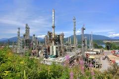 De olieraffinaderij van Vancouver stock foto's