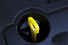 De oliestok van de motor Royalty-vrije Stock Afbeeldingen