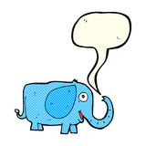 de olifant van de beeldverhaalbaby met toespraakbel Stock Foto's