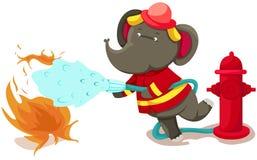 De olifant van de brandweerman vector illustratie