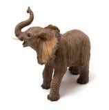 De olifant van de keramiek die op wit wordt geïsoleerdn Stock Afbeeldingen