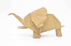 De olifant van de origami Stock Foto's