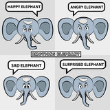 De olifant van het beeldverhaal Royalty-vrije Stock Foto's