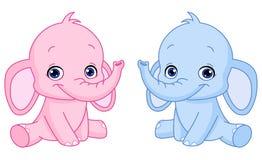 De olifanten van de baby Stock Afbeelding