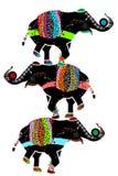 De olifanten van het circus Royalty-vrije Stock Afbeeldingen