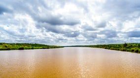 De Olifants-Rivier dichtbij het Nationale Park van Kruger in Zuid-Afrika royalty-vrije stock afbeelding
