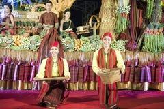 DE OLIFANTSronde VAN THAILAND SURIN OP FESTIVAL royalty-vrije stock fotografie