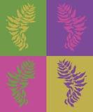 De olijfcollage van de kleur Royalty-vrije Stock Afbeeldingen