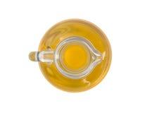 De olijfolie in een karaf Stock Afbeeldingen