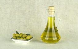 De olijfolie is een natuurlijk product Stock Foto