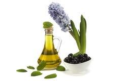 De olijfolie is een natuurlijk product Stock Foto's