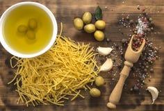 De olijfolie is een natuurlijk product Royalty-vrije Stock Foto