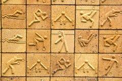 De olympische achtergrond van de baksteentextuur Royalty-vrije Stock Foto