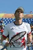 De olympische kampioen Andy Murray van Groot-Brittannië in actie tijdens mensen ` s kiest kwartfinale van Rio uit 2016 Olympische Royalty-vrije Stock Afbeelding