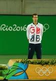 De olympische kampioen Andy Murray van Groot-Brittannië tijdens tennismensen ` s kiest medailleceremonie van Rio uit 2016 Olympis Royalty-vrije Stock Afbeeldingen