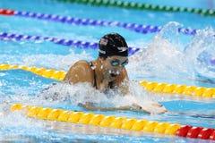 De olympische kampioen Madeline Dirado van Verenigde Staten zwemt de Vrouwen ` s 200m Individuele Hutspothitte 3 van Rio 2016 Oly Royalty-vrije Stock Foto