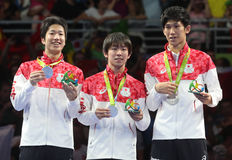 De Olympische Kampioen van het Japqnteam in Rio 2016 royalty-vrije stock foto