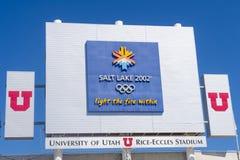 De Olympische Ketel van Salt Lake City Royalty-vrije Stock Afbeelding