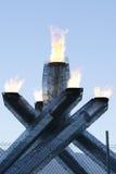 De Olympische Ketel van Vancouver Stock Afbeeldingen