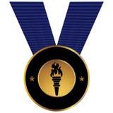 De olympische Medaille van de Toorts Stock Foto's